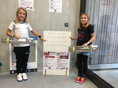 Lou-Anne Citherlet und Salma Demuth Winkelstütz-Wettbewerb von Turnstern SMM 2017 Bülach