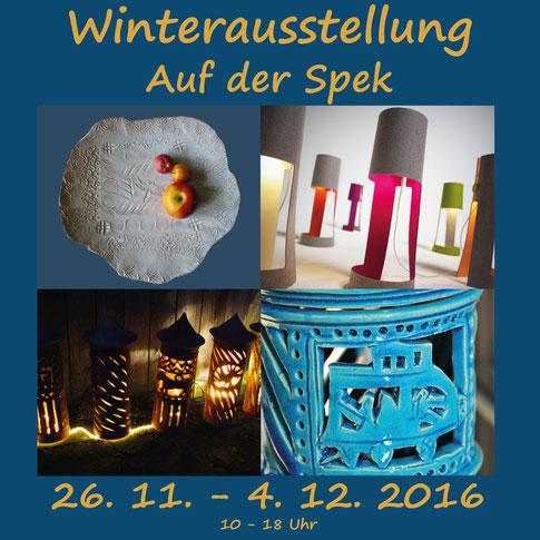 Winterausstellung auf der spek,keramik und lampen