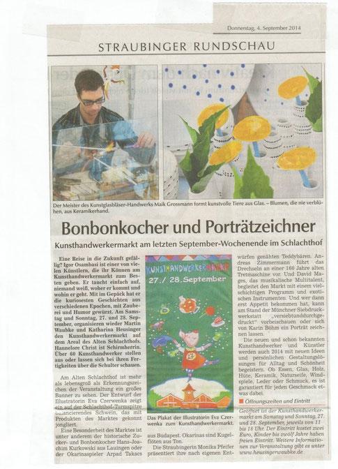 Bonbonkocher und Portraitzeichner, Straubinger Kunsthandwerkermarkt am Alten Schlachthof