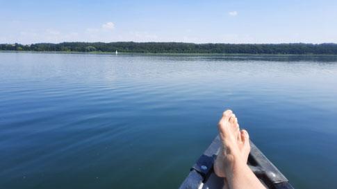 Entspannende Kanutour auf dem Ratzeburger See