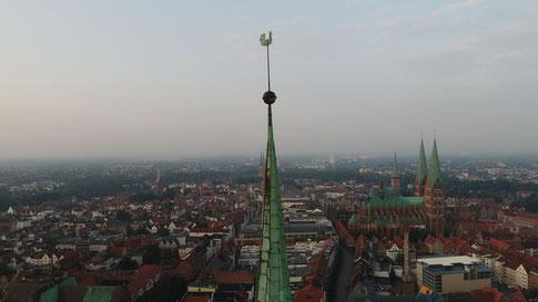 Turm, Einzelbild - Wetterhahn