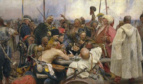 Ilya Repin cosaque cossack zaporogue