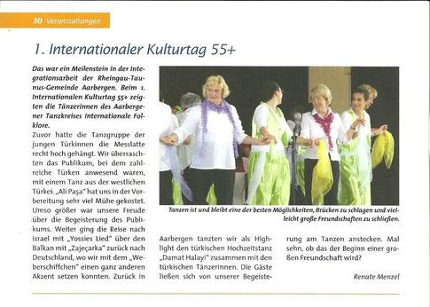 Bericht in der Zeitung des Bundesverbands Seniorentanz e.V.