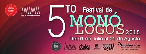 """V FESTIVAL DE MONÓLOGOS 2015 programación Centro García Márquez """"EL Original"""""""