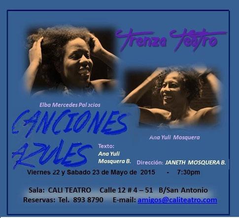 Canciones Azules en Cali Teatro