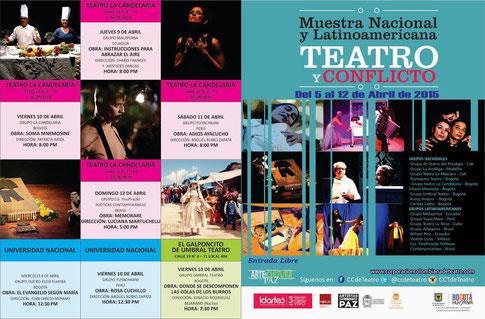 En abril: Muestra Nacional y Latinoamericana Teatro y Conflicto