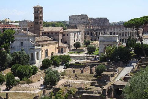 Forum Romanum und Kolosseum in Rom