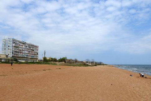 Strand am Kaspischen Meer in Derbent