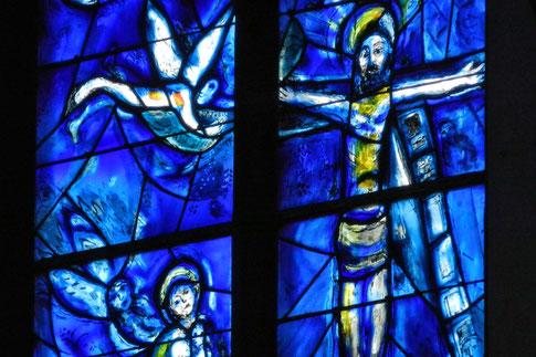 Витражи Шагаля церковь Святого Штефана Майнц
