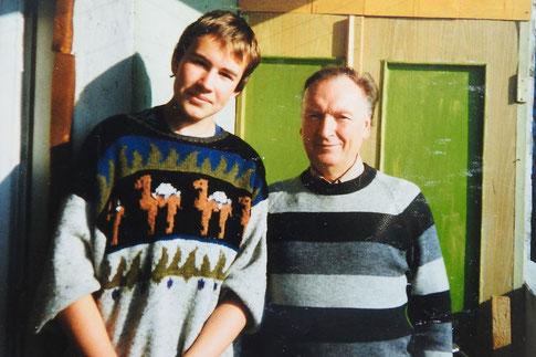 Der Autor mit seinem wunderbaren Gast- und späteren Schwiegervater