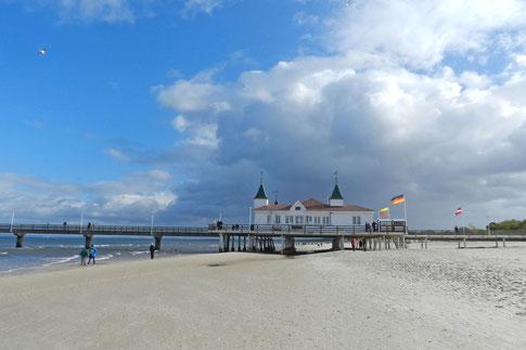 Пляж на острове Узедом Альбек