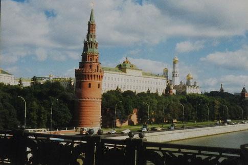 Nur wenig Verkehr am Kreml