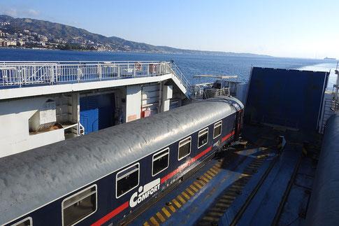 Eisenbahnfähre Italien mit dem Nachtzug Rom-Palermo