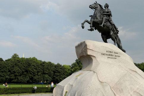 Denkmal für Zar Peter den Großen in Petersburg