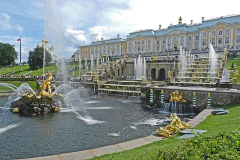 Schloss Peterhof Springbrunnen
