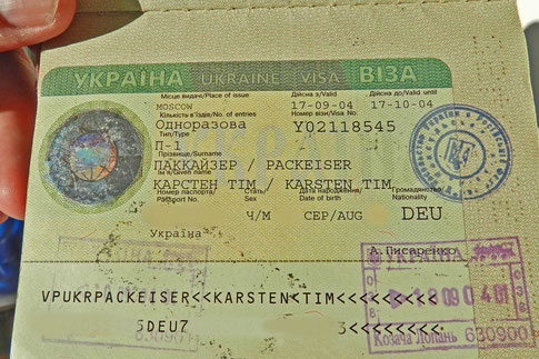Ukrainisches Visum