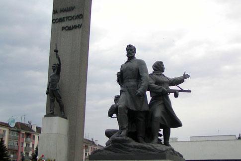 Partisanen-Denkmal im Zentrum von Brjansk