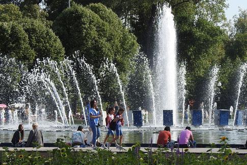 Springbrunnen im Moskauer Gorki-Park