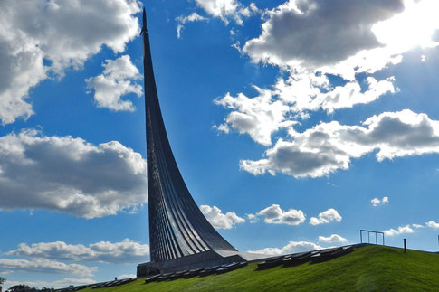 Denkmal Eroberer des Weltalls Rakete Moskau