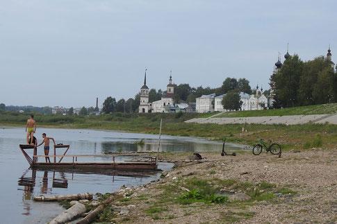 Ufer der Suchona Weliki Ustjug Nordrussland