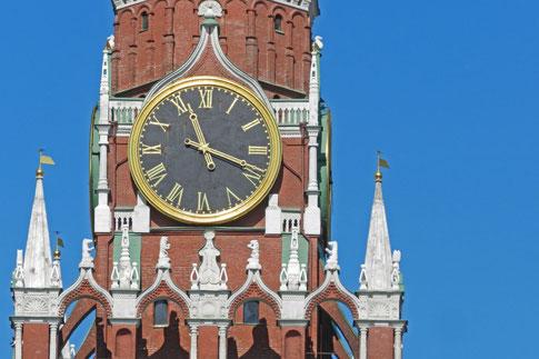 Erlöserturm Moskau Kreml Uhr