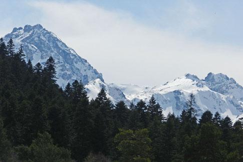 Die Berge rund um Archys sind bis zu 3600 Meter hoch