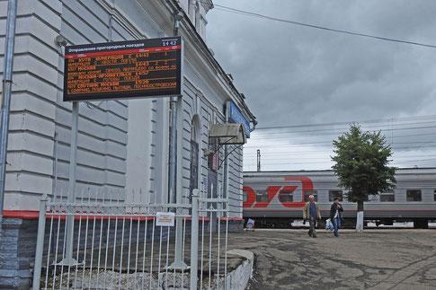 Bahnhof der russischen Stadt Alexandrow