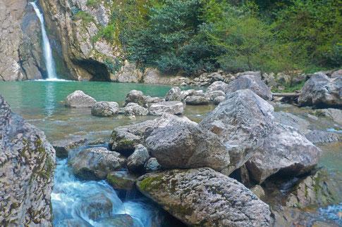 Agura Wasserfälle Schlucht Sotschi