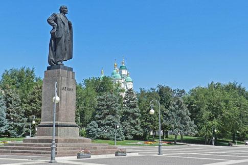 Lenin Denkmal Astrachan Wolga