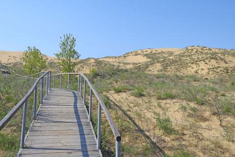 Weg zum Aussichtspunkt der Sary-Kum-Dünde