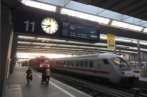 München Hauptbahnhof. ÖBB-Nighjet nach Rom ist abfahrtbereit.