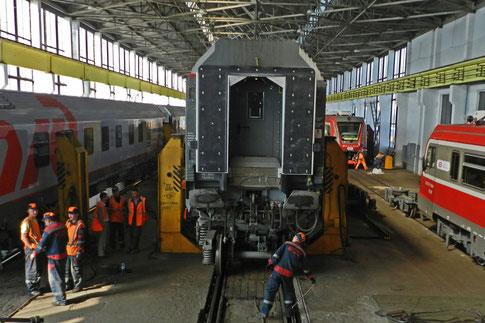Брест поезд Москва Париж смена колес