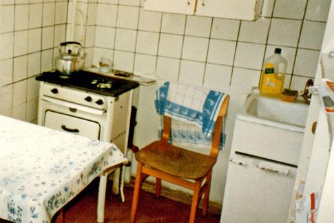 Mini-Küche in meiner Moskauer Chruschtschowka-Wohnung