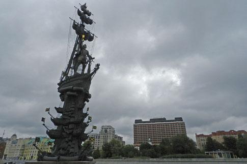Peter der Große Denkmal Moskau Kolumbus Zereteli