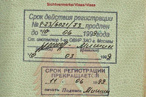 Russische Registrierung Reisepass