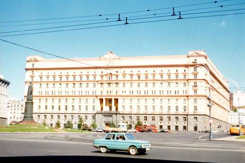 Lubjanka-Platz KGB im Sommer 1990