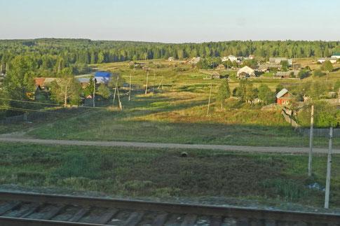 Blick aus dem Zugfenster Jekaterinburg - Perm