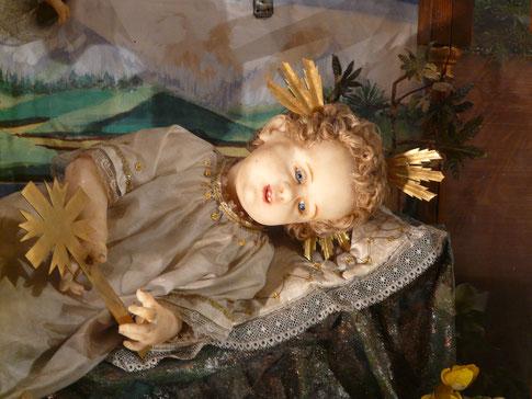 Unser Christkindlein nach der Restaurierung im Herbst 2017