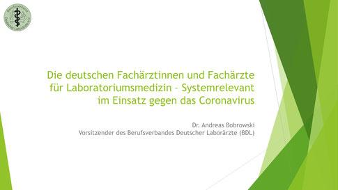Laboratoriumsmedizin - systemrelevant