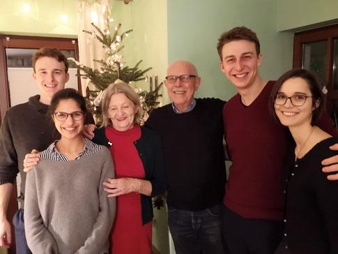 Schulleiterpaar Köhler und Friends-Vorstand bei einem Arbeitstreffen in München