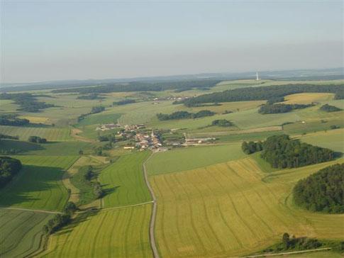 Vue aérienne de Méligny le petit