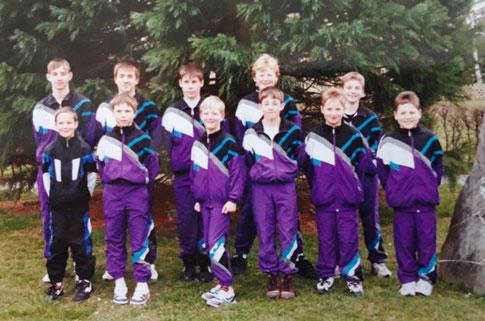 Jugendmannschaft im Jahr des 25' jährigen Vereinsbestehens  im Jahr 1995