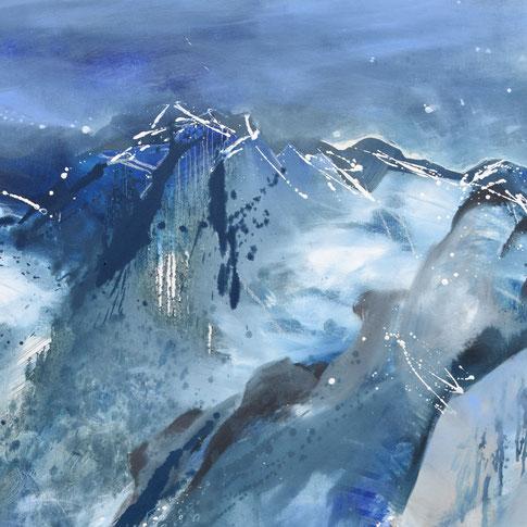 Künstlerin in Murnau, Blaues Land