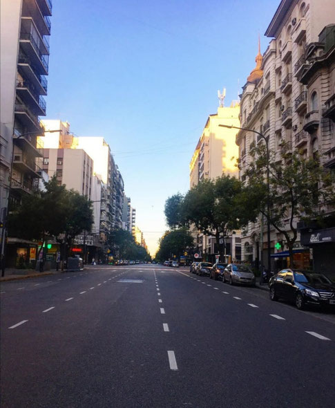Streets in Buenos Aries during the confinement