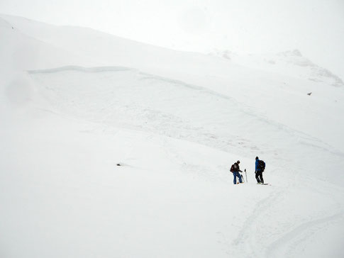 Mittleres Schneebrett vom Sonntag, 5. Februar 2017 beim Mont Gaultier
