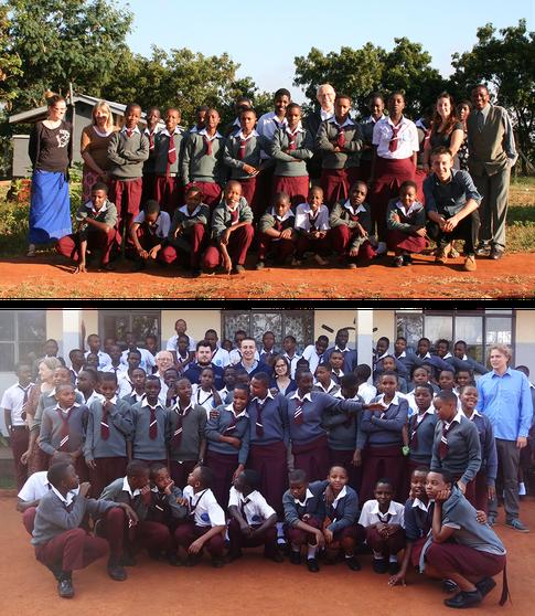 Gruppenfotos von 2013 und 2015 in Tansania