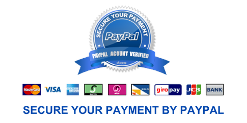 Your payment is secured by PayPal and also easy to checkout.