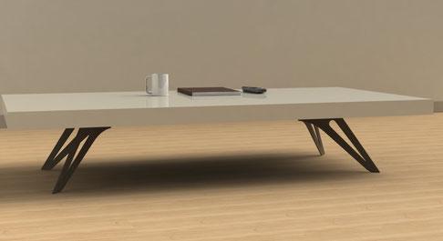 pied de table basse Delya coloris marron