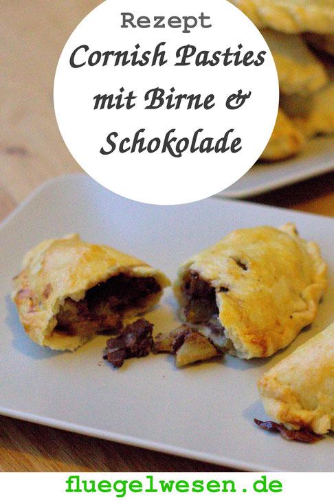 Rezept Cornish Pasties mit Birne und Schokolade - fluegelwesen.de