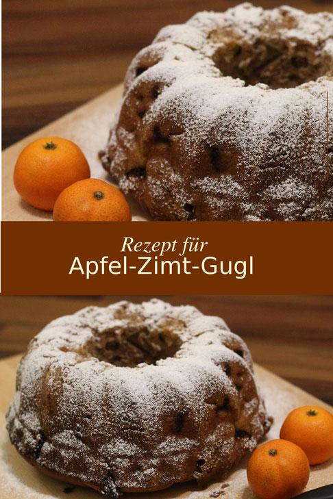 fluegelwesen.de  - Rezept für saftigen Apfel-Zimt-Gugl